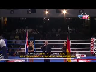Одланьер Солис vs Якуп Саглам (полный бой)