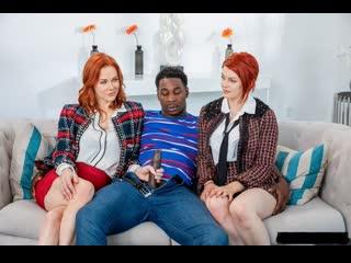 Рыжие шлюшки решили ублажить черного парня (Maitland Ward,МЖЖ,инцест,milf,минет,секс,анал,мамку,сиськи,brazzers,порно,зрелую)
