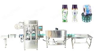Automatic Shrink Sleeve Bottle Labeling Machine  for Shampoo Bottle, Body Wash Bottle, etc.