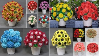 Smart ideas | 20+ Flower pot making at home with plastic bottle