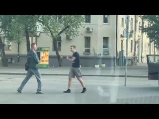 На ЦПКиО сцепились Водитель и пешеход