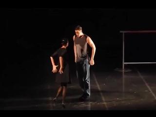 "Спектакль ""Casting/Кастинг"", танец, Алла Сигалова и Станислав Бондаренко."