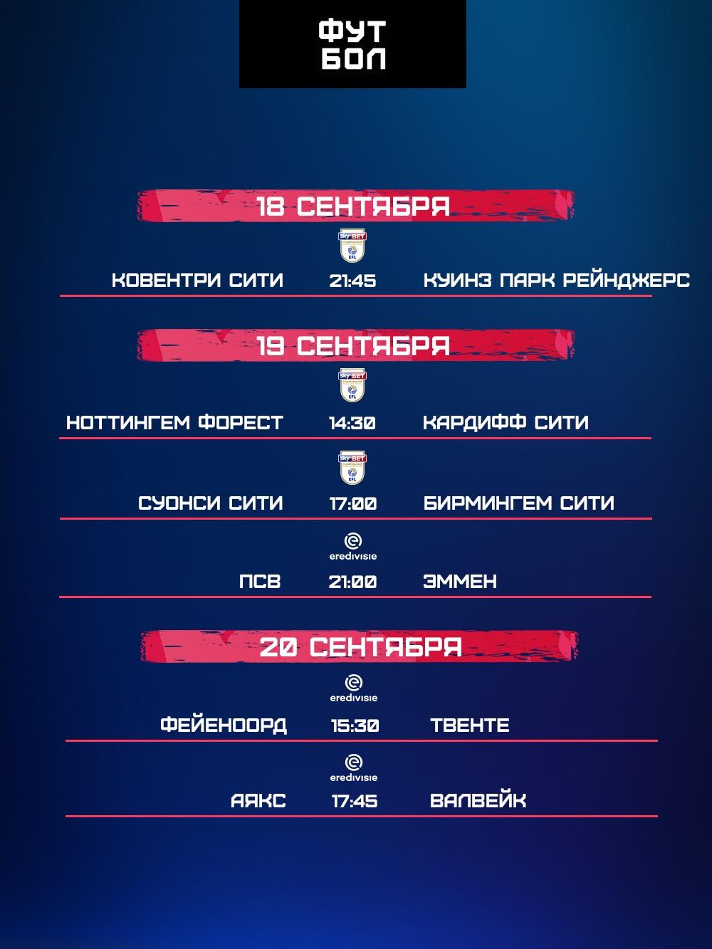 Матчи «Аякса», ПСВ и «Кардиффа». Расписание ближайших прямых трансляций телеканала «Футбол»   фото № 2