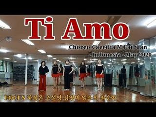 💋Ti Amo-Line Dance(Demo&Count)초급라인댄스