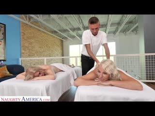 Счастливый массажист трахает 2 зрелых дам, busty milf mature old lady oil sex porn young guy tit ass boob new HD (Hot&Horny)