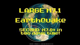 1/23/2021 -- Large M7.1 Earthquake strikes near ANTARCTICA -- Second Large M7+ quake = Major unrest