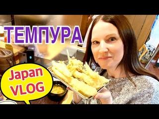 Japan Vlog. Самые вкусные темпура в Японии. Японские рестораны в центре Кобе.
