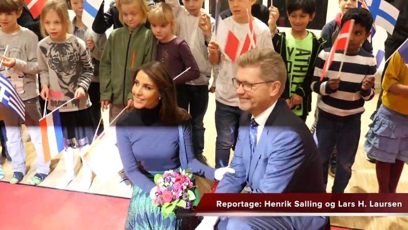 Smilende prinsesse Marie indviede international skole