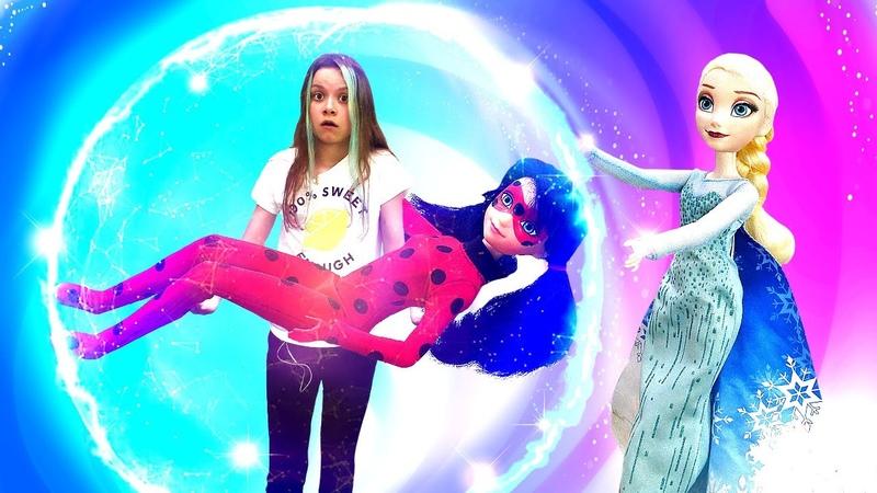 Эльза Холодное Сердце иЛеди Баг VS Альтрон Охотники заигрушками новая серия видео для девочек