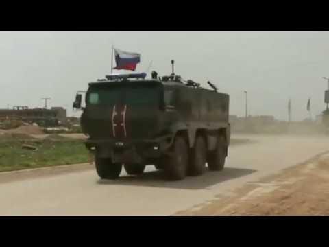Гонки бронемашин США и России в Сирии KAMAZ Typhoon vs Oshkosh M ATV 2020