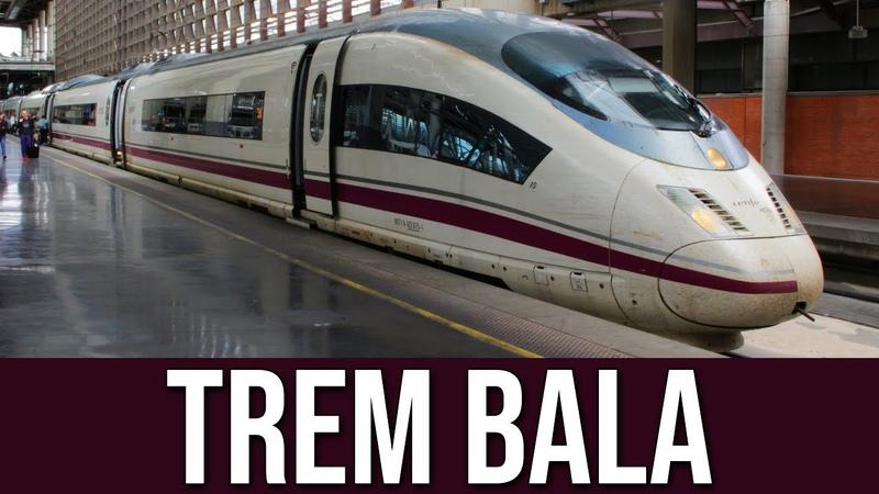 Viajando de Trem Bala AVE Entre Madrid e Barcelona na Espanha