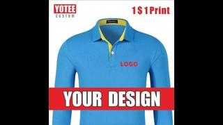Костюм поло с длинным рукавом yotee, мужская и женская одежда с вышивкой логотипа персональной компании, поло с длинными
