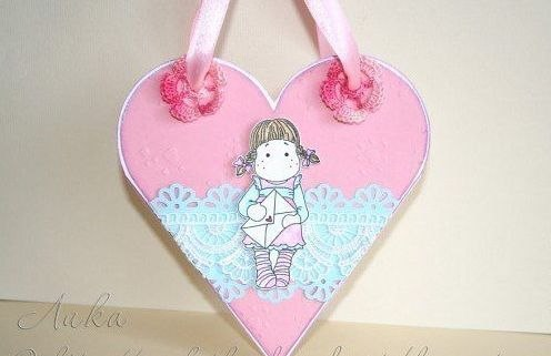 Сладкое сердце-сумочка