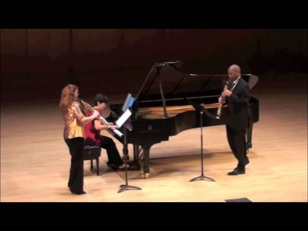 Bach's Double Concerto, mvt I, performed by Susan Fancher, Branford Marsalis, and Inara Zandmane