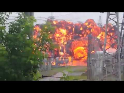 Взрыв на подстанции Восточная на Энергетической