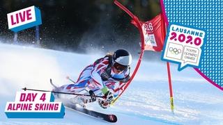 LIVE - Alpine Skiing - Giant Slalom Run 2 - Day 4   Lausanne 2020