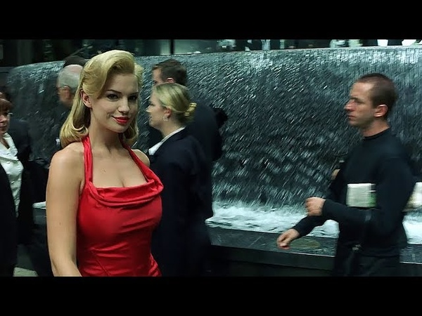The woman in the red dress The Matrix Open Matte