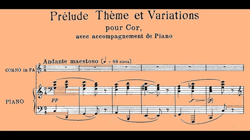 Rossini Prélude Thème et Variations pour cor et piano Guido Corti Riccardo Caramella