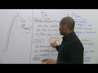 Learn English- MAKE or DO
