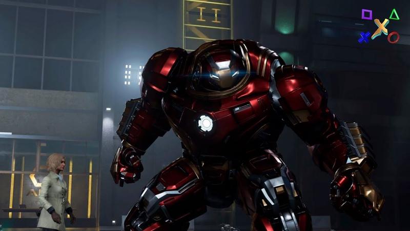 Марвел Мстители Игра, Железный человек и Халкбастер, Marvels Avengers Iron man Hulkbuster