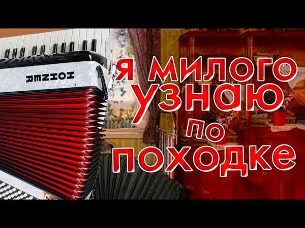 А я милого узнаю по походке на аккордоене на баяне accordion