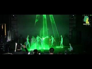 Laser Man Show Презентация новой модели Mazda 3 с использованием генераторов дыма и тумана Look Solutions и сценических вентиляторов Magic FX