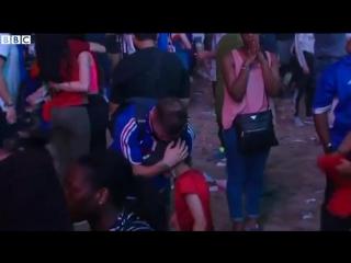 Euro 2016 portuguese boy hugs crying french fan football bbc news