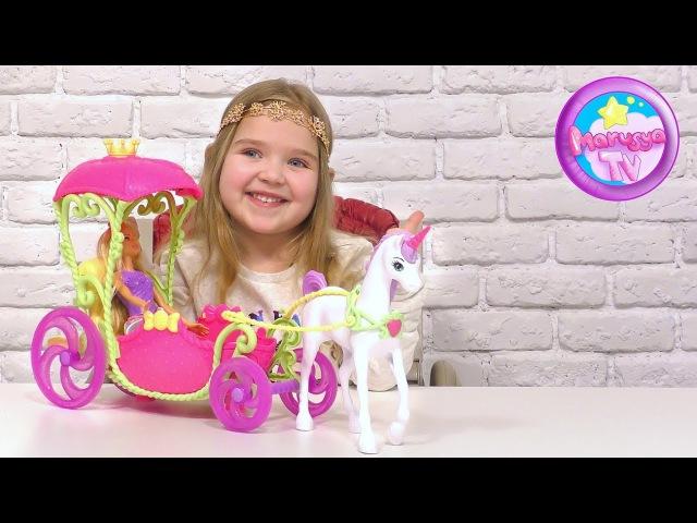 Игрушка для детей Барби кукла Дримтопия: Экипаж принцессы со Свитвиля | Barbie Dreamtopi...