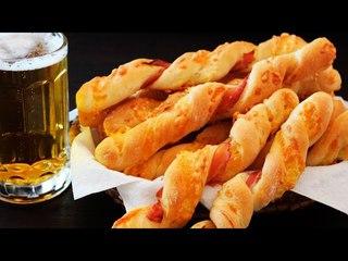 Хлебные Палочки с Сыром и Беконом ♥ Отличная Закуска к Пиву ♥ Рецепты NK cooking