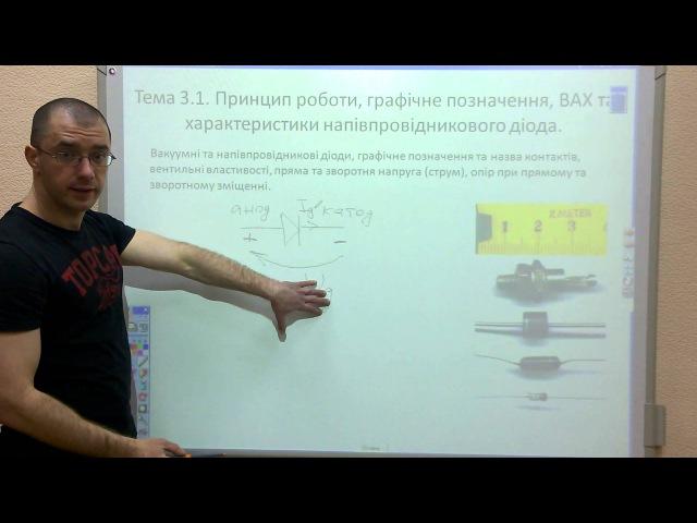 Лекція 6 Тема 3 1 1 Принцип роботи позначення ВАХ та характеристики діода