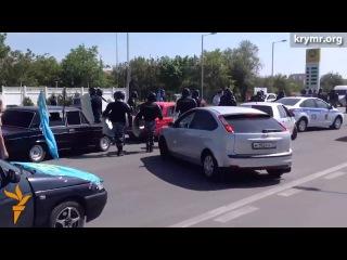 Учасників автопробігу до річниці Депортації Кримських Татар затримали у #Сімферополі