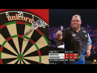 Gary Anderson vs John Henderson (World Grand Prix 2015 / Round 1)