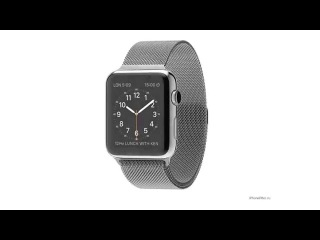 Apple Watch Stainless Steel Case with Milanese Loop