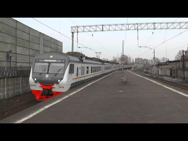Электропоезд ЭД4М-0474 ЦППК платформа Станколит