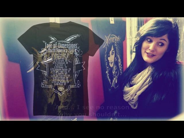 XANDRIA's North American Tour of Dimensions shirt