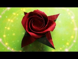 Оригами Роза Masahiro Ichikawa. Как Сделать Розу. Цветы Из Бумаги. Origami Rose