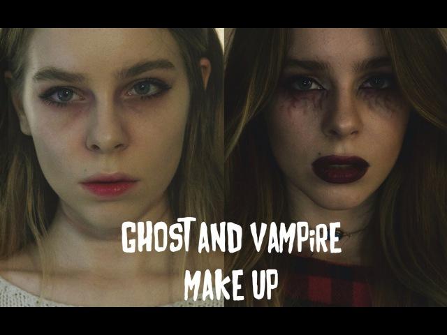 МАКИЯЖ НА ХЭЛЛОУИН Мертвая девушка и Вампир Ира Блан