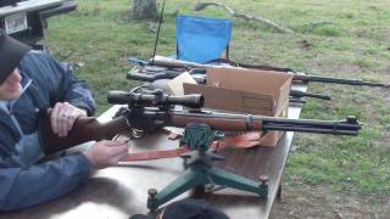 Marlin Model 336 hitting 16 rounds at 400 meters (437 yards)