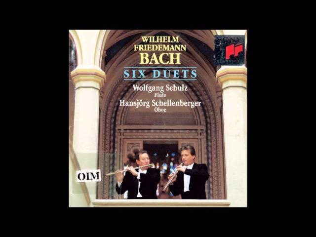 W F Bach Duets for Flute and Oboe