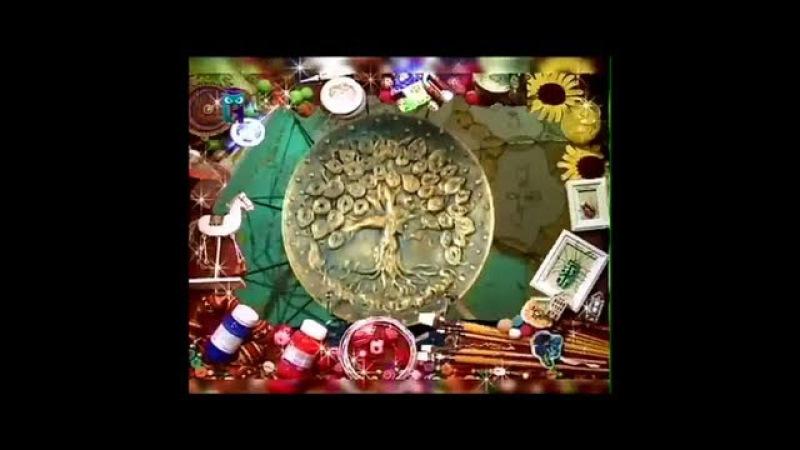 Декупаж В технике папье маше создаем из бумаги тарелку с деревом Мастер класс Наташа Фохтина
