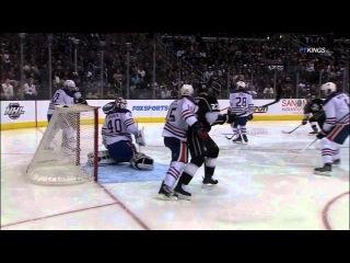 Slava Voynov goal. Edmonton Oilers vs Los Angeles Kings 4-2-12 NHL Hockey