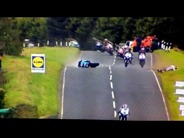 Ulster GP 2014 Jumps and Crash at 180mph 290kmh