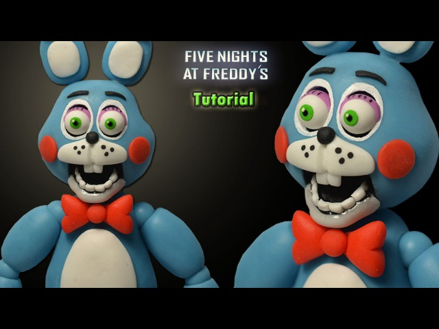 FNaF 2 ★ Toy Bonnie Tutorial - Polymer clay Porcelana fria Plastilina