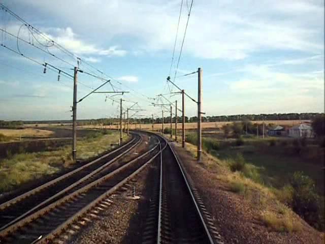 Балашов Лиски Маршрут глазами машиниста Balashov Liski Rout by train engineer eyes