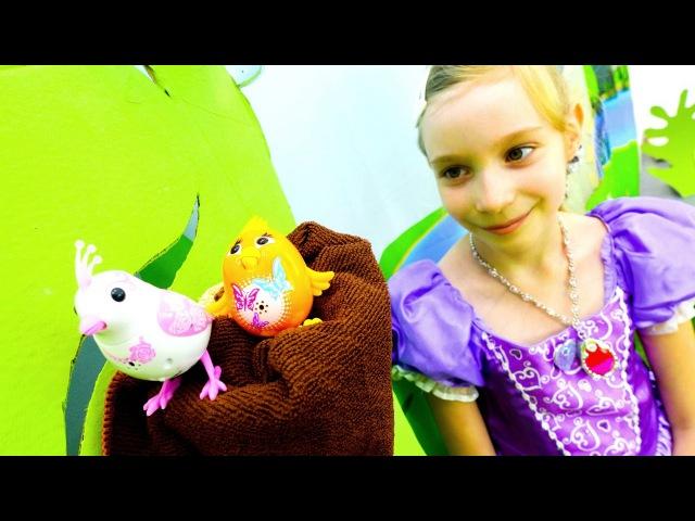 Принцесса СОФИЯ и поющие птички DigiBirds Видео для девочек про Тайны Жизни Животных Игры одевалки