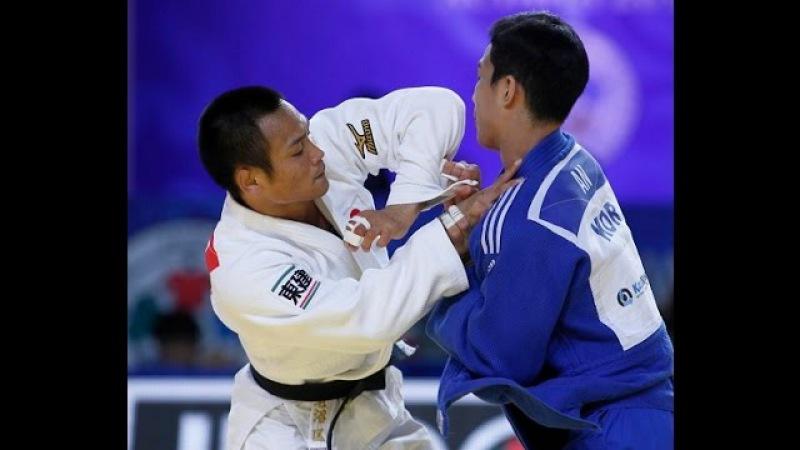 Final Judo 66kg1 5 Ebinuma JPN vs An KOR Astana 2015 Team contest