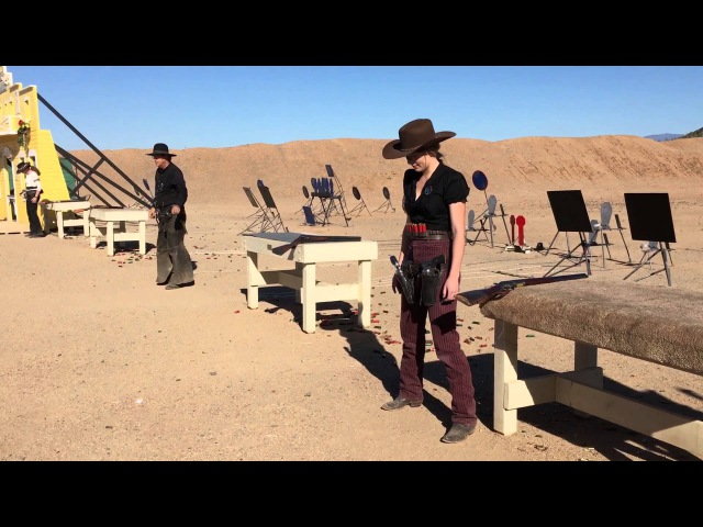 Winter Range 2016 - Top 16 Shootoff - Cowboy Action Shooting- Texas Tiger and SASS Kicker