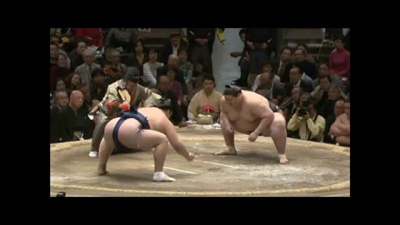 逸ノ城○ ●勢 2分45秒の長丁場 大相撲初場所 13日目