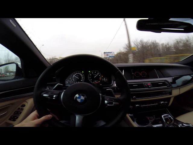 Разгон BMW 535Xi F10 с ланчем Acceleration BMW 535i Xdrive F10 with launch control