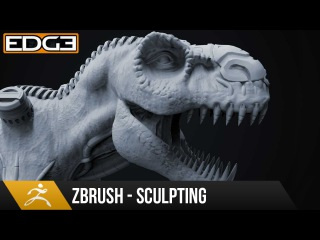 #2 Zbrush Sculpting Tutorial for Beginners Series - Organic & Hard-Surface T-Rex 1080p HD